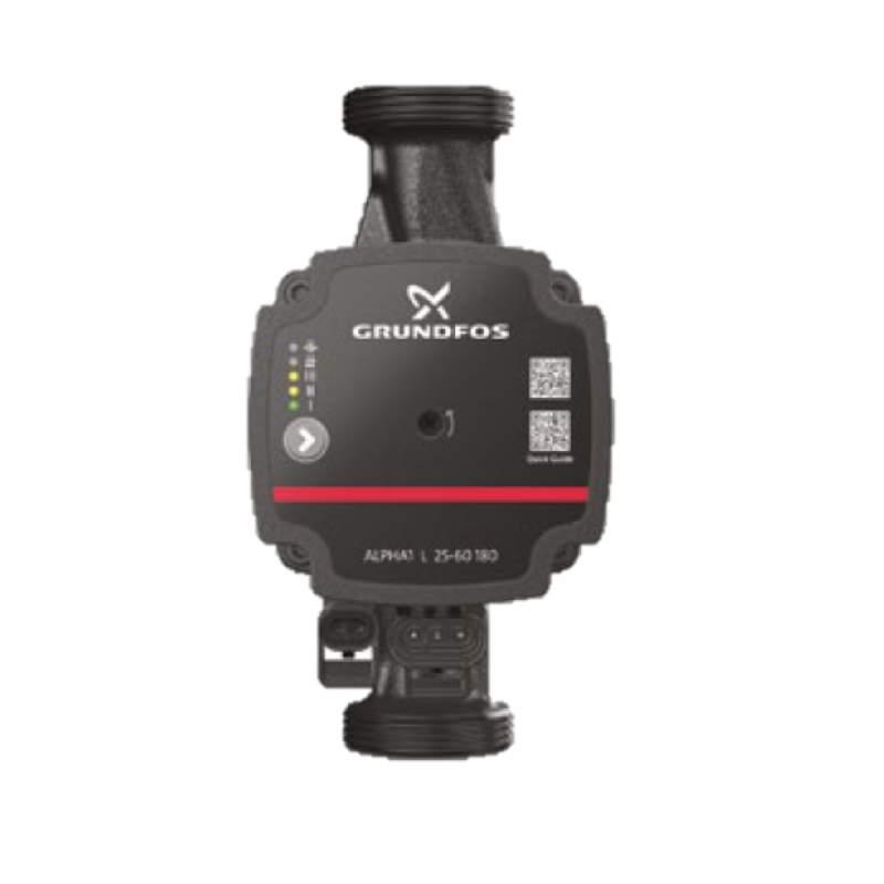 99160420 1/pieza Grundfos Bomba de circulaci/ón alpha1/25/ negro rojo /60/180/mm
